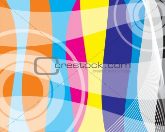 abstract vector wallpaper on halftone background