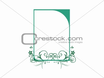 beautiful green swirl design background, vector