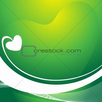 beautiful texture of heart background, gradient green