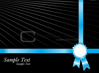 black sample text with blue silver award ribbons