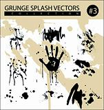 grunge splash vectors