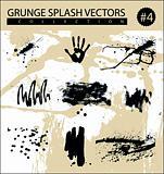 grunge splash vectors