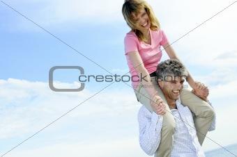 Mature romantic couple