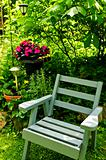 Chair in green garden