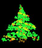 Abstract Particle Christmas Tree