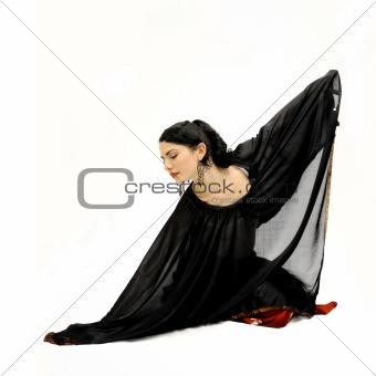Flamenco dancer isolated