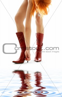 cherry red boots