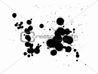 abstract zen ink painting graphic
