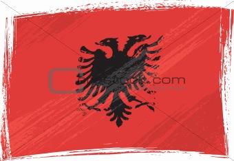 Grunge Albania flag