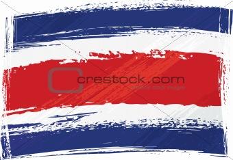 Grunge Costarica flag