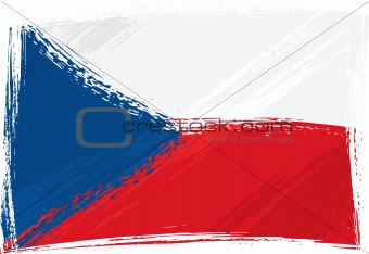 Grunge Czech Republic flag
