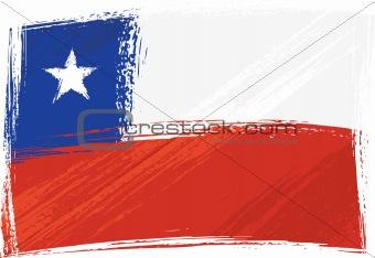 Grunge Chile flag
