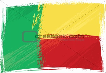 Grunge Benin flag