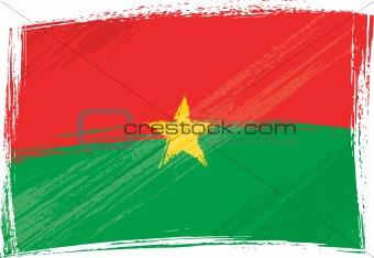 Grunge Burkina Faso flag