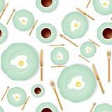 Seamless breakfast pattern