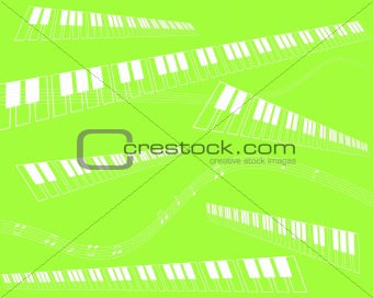 green music - white notes