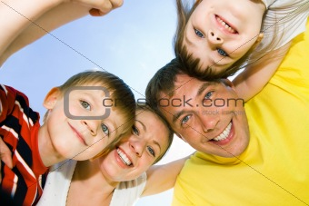 Faces of happy people