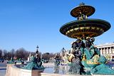 Fountain, Place de la Concorde. Paris, France.