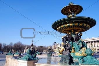 Fountain, Place de la Concorde. Paris, France.