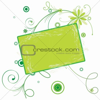 abstract background with a banner