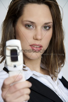 Beautiful girl with a cellphone
