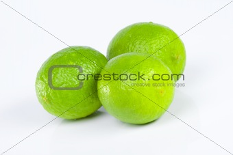 Three green limes