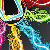 Celebration party frame background