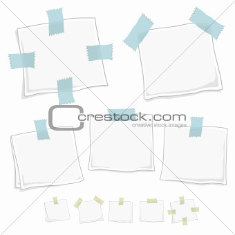 Stylized graphic note posts