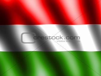 Flag Hungary waving in wind textile texture pattern