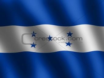 Flag of Honduras waving in the wind, illustration