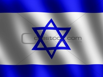 Flag of Israel in the wind, wallpaper