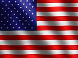 patriotic symobls shiny American Flag, banner