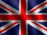 vector waving Flag of England, abstract wallpaper