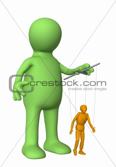 3d puppet, managing a doll - puppet