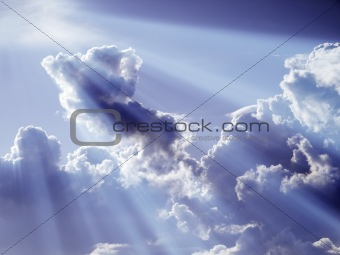 Clouds with light effect