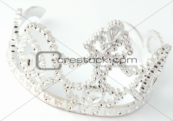 tiara on white background