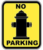 no parking near fire hydrant