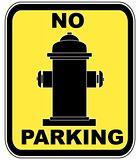 no parking near fire hydrant