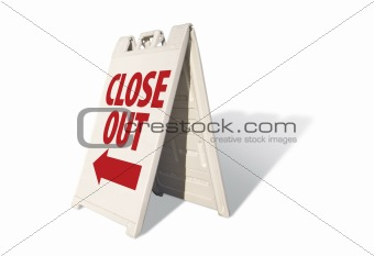 Close Out Tent Sign