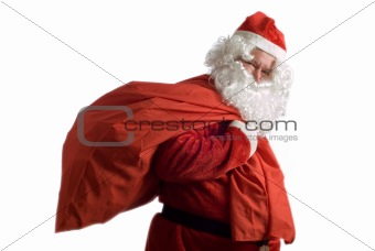 Father Christmas and sack of presents
