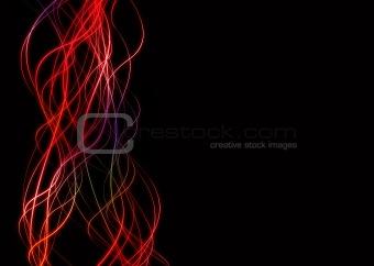 wave lines neon edge