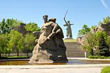 World War II Memorial obelisk on mound Mamayev Kurgan Russia Vol