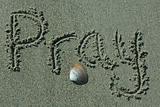 Sand Writing - Pray