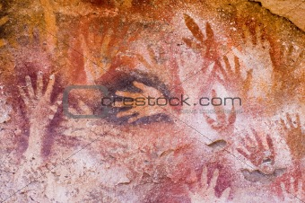 Ancient cave paintings in Patagonia