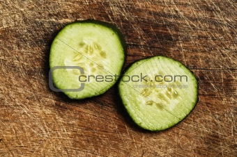 Slices of cucumber.