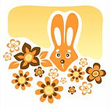 rabbit and flowers
