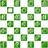 audio video media icons set no.3 - blue