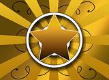 a bold star and sunburst background illustration