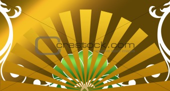 a decorative abstract sunburst background