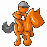 Orange Man Racing Horse